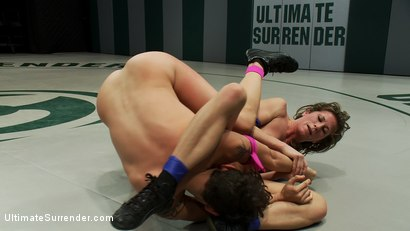 """Photo number 12 from Welcome Saffron """"The Destroyer"""" 5'10 150lbs of pure muscle and determination<br>Saffron meet Ariel X shot for Ultimate Surrender on Kink.com. Featuring Ariel X and Saffron in hardcore BDSM & Fetish porn."""