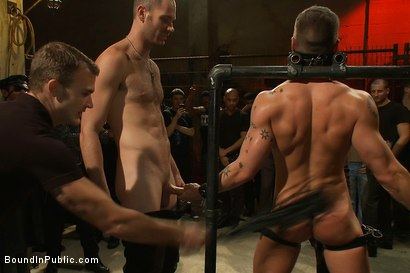 Photo number 3 from Adam Knox gets caught in a cum fest shot for Bound in Public on Kink.com. Featuring Christian Wilde, Cole Streets and Adam Knox in hardcore BDSM & Fetish porn.