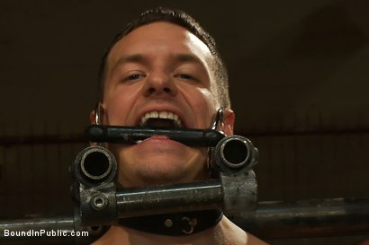 Photo number 2 from Adam Knox gets caught in a cum fest shot for Bound in Public on Kink.com. Featuring Christian Wilde, Cole Streets and Adam Knox in hardcore BDSM & Fetish porn.