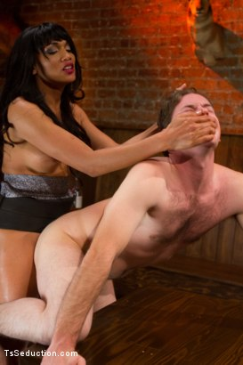 Photo number 5 from Ts CockSucking for Beginners:<br> Yasmin's Thick Cock Deep in Vern's Throat and Ass shot for TS Seduction on Kink.com. Featuring Yasmin Lee and Vern Hopkins in hardcore BDSM & Fetish porn.