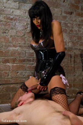 Photo number 2 from Giantess - Ts Giantess, a Little Man, a Giant cum shot shot for TS Seduction on Kink.com. Featuring Yasmin Lee and Ned Mayhem in hardcore BDSM & Fetish porn.