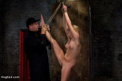 Photo number 10 from Southern Belle in her first hardcore bondage experience<br>Abused, made to cum, and wrist suspended. shot for Hogtied on Kink.com. Featuring Aiden Aspen in hardcore BDSM & Fetish porn.