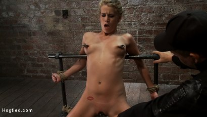 Photo number 7 from Tiny Southern Belle pushed to her limits, back arched, made to cum hard  Cruelest crotch rope ever shot for Hogtied on Kink.com. Featuring Aiden Aspen in hardcore BDSM & Fetish porn.