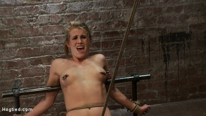 Photo number 10 from Tiny Southern Belle pushed to her limits, back arched, made to cum hard<br>Cruelest crotch rope ever shot for Hogtied on Kink.com. Featuring Aiden Aspen in hardcore BDSM & Fetish porn.