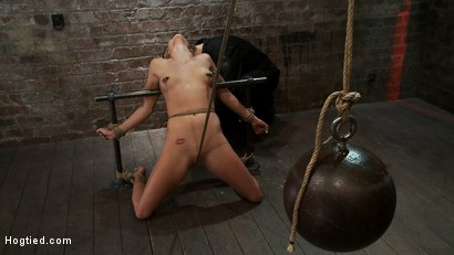 Photo number 11 from Tiny Southern Belle pushed to her limits, back arched, made to cum hard<br>Cruelest crotch rope ever shot for Hogtied on Kink.com. Featuring Aiden Aspen in hardcore BDSM & Fetish porn.