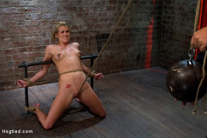 Photo number 14 from Tiny Southern Belle pushed to her limits, back arched, made to cum hard<br>Cruelest crotch rope ever shot for Hogtied on Kink.com. Featuring Aiden Aspen in hardcore BDSM & Fetish porn.