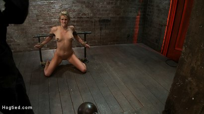 Photo number 8 from Tiny Southern Belle pushed to her limits, back arched, made to cum hard<br>Cruelest crotch rope ever shot for Hogtied on Kink.com. Featuring Aiden Aspen in hardcore BDSM & Fetish porn.