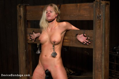 Photo number 1 from Blonde Hard Bodied Bombshell <br>Countdown to Relaunch-17 of 20 shot for Device Bondage on Kink.com. Featuring Holly Heart in hardcore BDSM & Fetish porn.