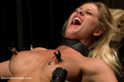 Photo number 6 from Blonde Hard Bodied Bombshell   Countdown to Relaunch-17 of 20 shot for Device Bondage on Kink.com. Featuring Holly Heart in hardcore BDSM & Fetish porn.