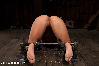 Photo number 9 from Blonde Hard Bodied Bombshell  Countdown to Relaunch-17 of 20 shot for Device Bondage on Kink.com. Featuring Holly Heart in hardcore BDSM & Fetish porn.