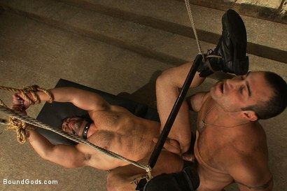 Photo number 14 from The Bad Lieutenant shot for Bound Gods on Kink.com. Featuring Spencer Reed and Vince Ferelli in hardcore BDSM & Fetish porn.