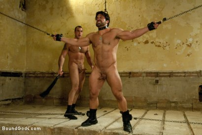 Photo number 8 from The Bad Lieutenant shot for Bound Gods on Kink.com. Featuring Spencer Reed and Vince Ferelli in hardcore BDSM & Fetish porn.