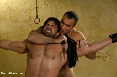Photo number 7 from The Bad Lieutenant shot for Bound Gods on Kink.com. Featuring Spencer Reed and Vince Ferelli in hardcore BDSM & Fetish porn.