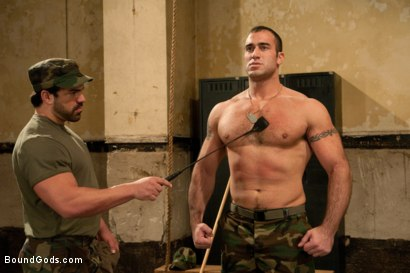 Photo number 1 from The Bad Lieutenant shot for Bound Gods on Kink.com. Featuring Spencer Reed and Vince Ferelli in hardcore BDSM & Fetish porn.