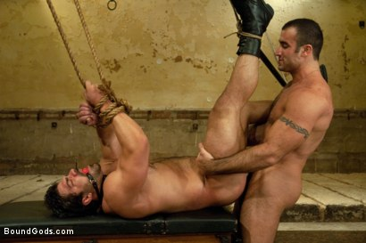 Photo number 12 from The Bad Lieutenant shot for Bound Gods on Kink.com. Featuring Spencer Reed and Vince Ferelli in hardcore BDSM & Fetish porn.