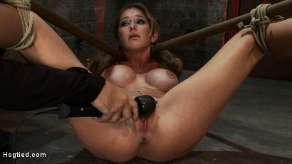 Photo number 4 from Hot MILF suffers the most painful bondage<br>Category 5 suspension made to squirt all over the place shot for Hogtied on Kink.com. Featuring Felony in hardcore BDSM & Fetish porn.