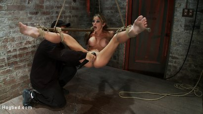 Photo number 7 from Hot MILF suffers the most painful bondage<br>Category 5 suspension made to squirt all over the place shot for Hogtied on Kink.com. Featuring Felony in hardcore BDSM & Fetish porn.