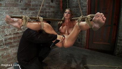 Photo number 6 from Hot MILF suffers the most painful bondage<br>Category 5 suspension made to squirt all over the place shot for Hogtied on Kink.com. Featuring Felony in hardcore BDSM & Fetish porn.