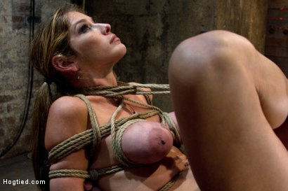 Photo number 4 from MILF with huge tits category 5 suspended from her neck & ankles <br>Brutally fucked in her ass. shot for Hogtied on Kink.com. Featuring Felony in hardcore BDSM & Fetish porn.