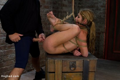 Photo number 9 from MILF with huge tits category 5 suspended from her neck & ankles <br>Brutally fucked in her ass. shot for Hogtied on Kink.com. Featuring Felony in hardcore BDSM & Fetish porn.