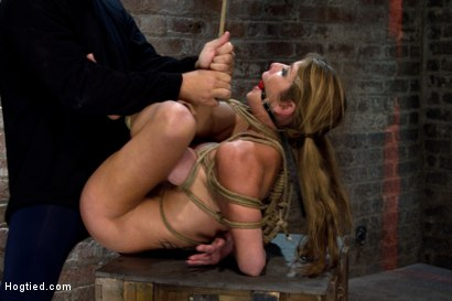 Photo number 8 from MILF with huge tits category 5 suspended from her neck & ankles <br>Brutally fucked in her ass. shot for Hogtied on Kink.com. Featuring Felony in hardcore BDSM & Fetish porn.
