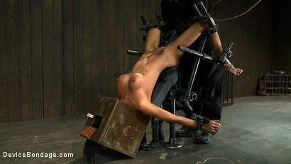 Photo number 9 from Hot skinny MILF with big tits, is bound in a custom metal device. <br>Brutally fucked, and zippered. shot for Device Bondage on Kink.com. Featuring Gia DiMarco and Maestro in hardcore BDSM & Fetish porn.