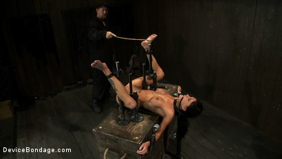 Photo number 5 from Milf made to squirt over & over.<br>Fucked, caned, nipple torment, foot torture & a facial, fun day shot for Device Bondage on Kink.com. Featuring Gia DiMarco and Maestro in hardcore BDSM & Fetish porn.