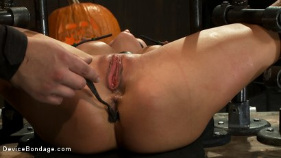 Photo number 7 from Milf made to squirt over & over.<br>Fucked, caned, nipple torment, foot torture & a facial, fun day shot for Device Bondage on Kink.com. Featuring Gia DiMarco and Maestro in hardcore BDSM & Fetish porn.