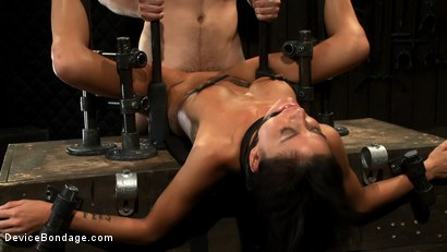 Photo number 10 from Milf made to squirt over & over.<br>Fucked, caned, nipple torment, foot torture & a facial, fun day shot for Device Bondage on Kink.com. Featuring Gia DiMarco and Maestro in hardcore BDSM & Fetish porn.