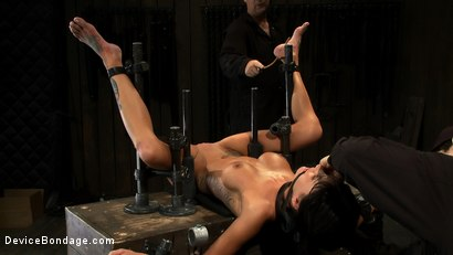 Photo number 4 from Milf made to squirt over & over.<br>Fucked, caned, nipple torment, foot torture & a facial, fun day shot for Device Bondage on Kink.com. Featuring Gia DiMarco and Maestro in hardcore BDSM & Fetish porn.