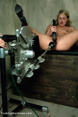 Photo number 12 from Former MidWestern Gymnast and Dance Squad Girl Squirts from Machine Fucking shot for Fucking Machines on Kink.com. Featuring Heather Starlett in hardcore BDSM & Fetish porn.