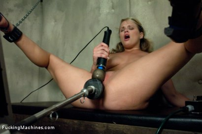 Photo number 11 from Former MidWestern Gymnast and Dance Squad Girl Squirts from Machine Fucking shot for Fucking Machines on Kink.com. Featuring Heather Starlett in hardcore BDSM & Fetish porn.