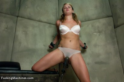 Photo number 3 from Former MidWestern Gymnast and Dance Squad Girl Squirts from Machine Fucking shot for Fucking Machines on Kink.com. Featuring Heather Starlett in hardcore BDSM & Fetish porn.