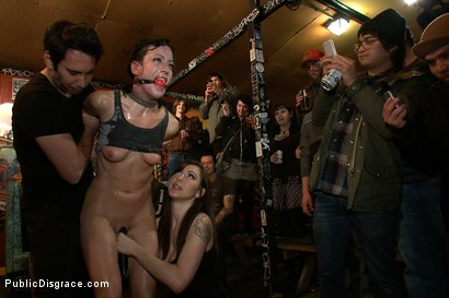 Photo number 7 from Total Awesomeness shot for Public Disgrace on Kink.com. Featuring Elise Graves, Tommy Pistol and Princess Donna Dolore in hardcore BDSM & Fetish porn.