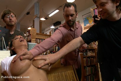 Photo number 3 from Bookstore Banging shot for Public Disgrace on Kink.com. Featuring Tommy Pistol and Bailey Brooks in hardcore BDSM & Fetish porn.
