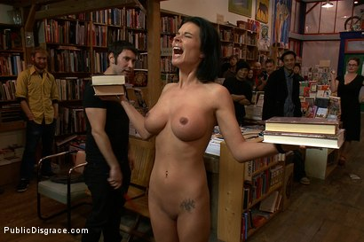 Photo number 6 from Bookstore Banging shot for Public Disgrace on Kink.com. Featuring Tommy Pistol and Bailey Brooks in hardcore BDSM & Fetish porn.