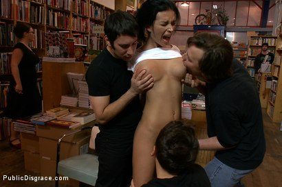 Photo number 2 from Bookstore Banging shot for Public Disgrace on Kink.com. Featuring Tommy Pistol and Bailey Brooks in hardcore BDSM & Fetish porn.