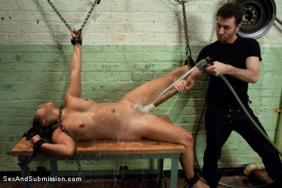 Photo number 12 from Struggle and Takedown shot for Sex And Submission on Kink.com. Featuring James Deen and Lana Violet in hardcore BDSM & Fetish porn.
