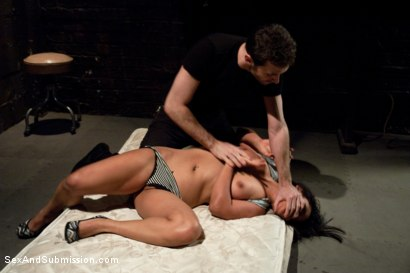 Photo number 2 from Struggle and Takedown shot for Sex And Submission on Kink.com. Featuring James Deen and Lana Violet in hardcore BDSM & Fetish porn.
