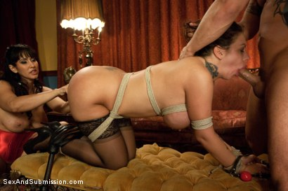 Photo number 11 from The Anniversary Slut shot for Sex And Submission on Kink.com. Featuring Derrick Pierce, Isis Love and Mason Moore in hardcore BDSM & Fetish porn.