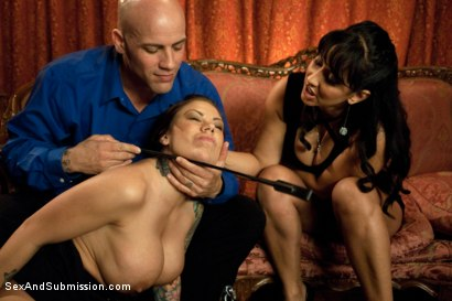 Photo number 2 from The Anniversary Slut shot for Sex And Submission on Kink.com. Featuring Derrick Pierce, Isis Love and Mason Moore in hardcore BDSM & Fetish porn.