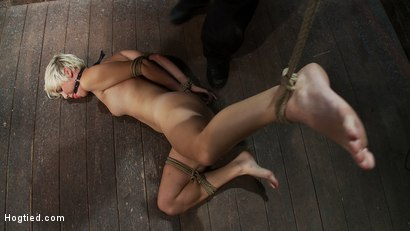 Photo number 11 from Hot blond is bound & made to strip.<br> Foot tortured, tickled, & made to cum over & over. shot for Hogtied on Kink.com. Featuring Chloe Camilla and Rain DeGrey in hardcore BDSM & Fetish porn.