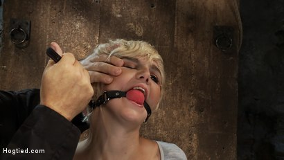 Photo number 14 from Hot blond is bound & made to strip.<br> Foot tortured, tickled, & made to cum over & over. shot for Hogtied on Kink.com. Featuring Chloe Camilla and Rain DeGrey in hardcore BDSM & Fetish porn.