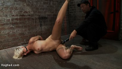 Photo number 5 from Hot blond is bound & made to strip.<br> Foot tortured, tickled, & made to cum over & over. shot for Hogtied on Kink.com. Featuring Chloe Camilla and Rain DeGrey in hardcore BDSM & Fetish porn.
