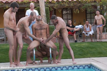 Photo number 11 from Bound and Humiliated at Helios Resort shot for Bound in Public on Kink.com. Featuring Cole Streets and Gianni Luca in hardcore BDSM & Fetish porn.