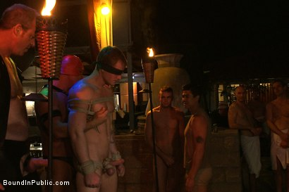 Photo number 3 from Trent Diesel gets tied up, beaten and gangbanged at Helios Resort shot for Bound in Public on Kink.com. Featuring Spencer Reed, Christian Wilde and Trent Diesel in hardcore BDSM & Fetish porn.