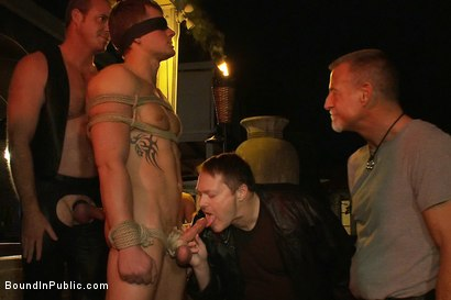 Photo number 6 from Trent Diesel gets tied up, beaten and gangbanged at Helios Resort shot for Bound in Public on Kink.com. Featuring Spencer Reed, Christian Wilde and Trent Diesel in hardcore BDSM & Fetish porn.