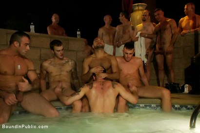 Photo number 8 from Trent Diesel gets tied up, beaten and gangbanged at Helios Resort shot for Bound in Public on Kink.com. Featuring Spencer Reed, Christian Wilde and Trent Diesel in hardcore BDSM & Fetish porn.