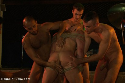 Photo number 7 from Trent Diesel gets tied up, beaten and gangbanged at Helios Resort shot for Bound in Public on Kink.com. Featuring Spencer Reed, Christian Wilde and Trent Diesel in hardcore BDSM & Fetish porn.
