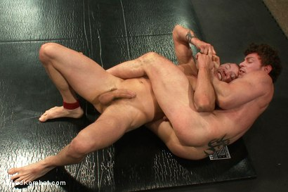 Photo number 8 from Brenn Wyson vs Jeremy Tyler shot for Naked Kombat on Kink.com. Featuring Brenn Wyson and Jeremy Tyler in hardcore BDSM & Fetish porn.